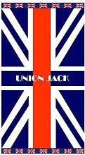 Strandtuch Union Jack Handtuch, Frottee, Velours,