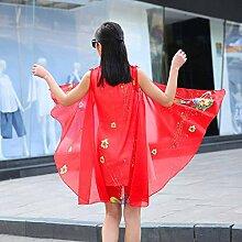 Strandtuch verschiedene Arten Schal Chiffon Druck Sommer wilden Sonnenschutz Schal Multifunktions , red