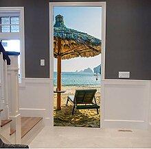 Strandurlaub Tür Aufkleber Selbstklebende
