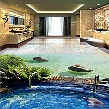 Strandvilla Pool Delphin 3D Stereo Badezimmer