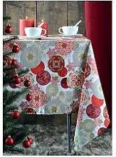 Strasbourg Quasten enduite Rouge 100% Cotton 155x 250cm