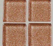 Strass, Mosaik aus Glas 2 cm / 200g Braun Mit