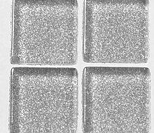 Strass, Mosaik aus Glas 2 cm / 200g Silber Mit