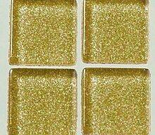 Strass-Mosaik-Glas 1cm / - 200g, Gold Mit Glitter,