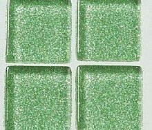 Strass-Mosaik-Glas 1cm / - 200g, Grün Mit