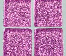 Strass-Mosaik-Glas 1cm / 200g Violett Mit Glitter,