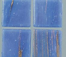 Strass-Mosaik-Glas Transparent 2 cm / 200g Blau,