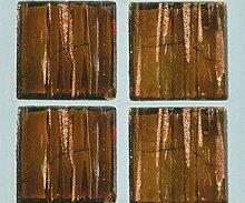 Strass-Mosaik-Glas Transparent 2 cm / 200g Braun,