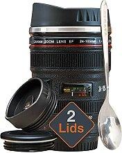 STRATA CUPS Kameraobjektiv Kaffeebecher -400 ml,
