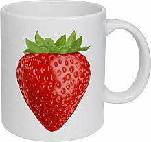 Strawberry' Ceramic Mug/Travel Coffee Mug