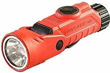 Streamlight 88901Vantage 180Haarwinkel Multifunktions-Taschenlampe mit Weiß und Blau LEDs, Lithium-Batterien und Helm Halterung, orange