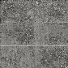 Street 6686 Vlies-Tapete Mustertapete in Steinoptik silber metallic graphit-grau