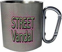 Street Vandal Edelstahl Karabiner Reisebecher 11oz