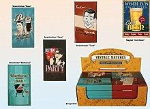 Streichhölzer 48er Set in Schachtel Vintage Look