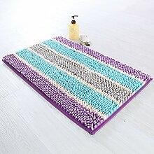 Streifen chenille anti-rutsch badezimmer teppich