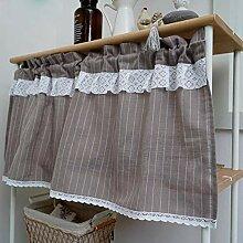 Streifen halber Vorhänge,Handgemacht/Baumwolle