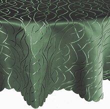 Streifen Tafeldecke Oval 130x220 130 x 220 cm Farbe wählbar - Dunkelgruen