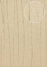 Streifen Tapete Atlas COL-570-4 Vliestapete glatt