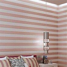 Streifen Tapete für zu Hause Moderne Wand CoveringNon-Gewebe Material Kleber erforderlich, Tapeten, Rot Rosa