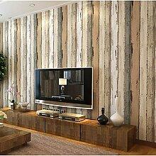 Streifen Tapete für zu Hause Moderne Wand CoveringNon-Gewebe Material Kleber erforderlich, Tapeten, Teak