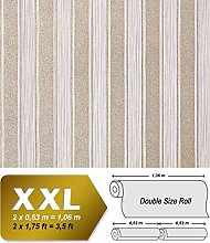 Streifen Tapete XXL Vliestapete EDEM 658-93 Elegante Blockstreifen Tapete braun beige bronze dezente glitzer 10,65 m2