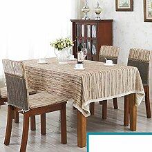 Streifen tischdecke/retro,feste farbe haushalt tücher/tischtuch-E 140x140cm(55x55inch)