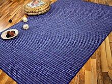Streifenberber Teppich Marta Blau Beige Streifen in 24 Größen