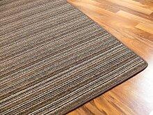 Streifenberber Teppich Marta Braun in 24 Größen