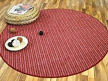 Streifenberber Teppich Marta Rot Beige Rot Streifen in 7 Größen
