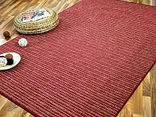 Streifenberber Teppich Marta Rot Beige Streifen in 24 Größen