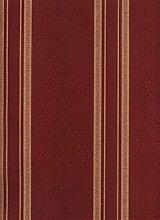 Streifentapete, goldfarbene Rückseite mit roter