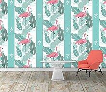 Streifentapeten Vertikale Streifen Flamingo Tapete