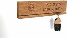 STREIFHOLZ Schlüsselbrett aus Holz personalisiert