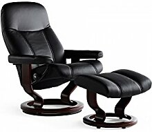 Stressless® Consul Sessel mit Hocker (S) Schwarz günstig