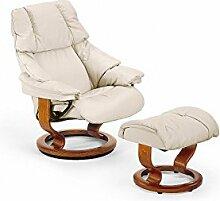 Stressless® Reno Sessel mit Hocker (S) Grau günstig