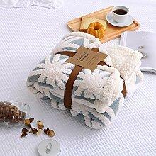 Stretch Baumwolle Wolldecke coral Fleece baby Decke sofa Decken nap Decken, Schals und, 130 * 160 cm, 3 Freizeitaktivitäten