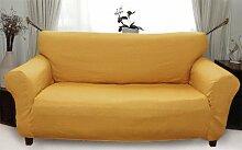 Stretch husse (gold) hussen für sofa 3 sitzer - sofahusse