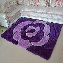 Stretch Seide Wohnzimmer Sofa Kaffetisch Teppich Schlafzimmer Bettseite Teppich Korridor Fußpolster , B , 1.2*1.7cm