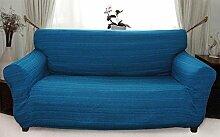 Stretchhusse (blau) hussen für sofa 2 sitzer - sofahusse