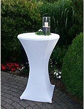 Stretchhusse für Stehtisch 62 cm Durchmesser 70x105-120 cm Tischplattenüberzug