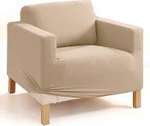 Stretchhusse Gitte, beige (Sessel mit Armlehnen 70-90 cm/85-100 cm)