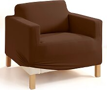 Stretchhusse Gitte, braun (Sessel mit Armlehnen 70-90 cm/85-100 cm)