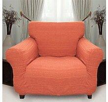 Stretchhusse (orange) hussen für sessel 1 sitzer - sofahusse