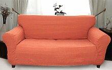 Stretchhusse (orange) hussen für sofa 2 sitzer - sofahusse
