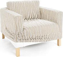 Stretchhusse Vienna, beige (Sessel 80-100 cm)