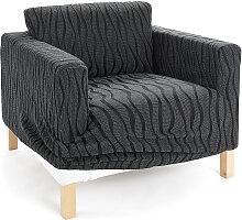 Stretchhusse Vienna, grau (2-Sitzer-Sofa 160 cm)