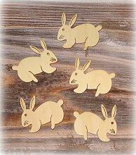 Streudeko 'Hase' aus Holz 48er-Set