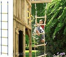 Strickleiter für Spielturm, 210cm - Kinderspielgeräte für Garten, Spielgeräte für Kinder, Spielturm, Spieltürme