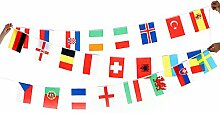 String Flagge 24Ländern der Welt Nation Flagge klein Flagge European Cup Bar Olympischen Spiele zum Aufhängen Flaggen