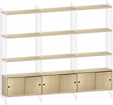 String Hoher Schrank Large Weiß/Eiche (b) 240 X